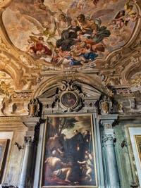 Chapelle San Mauro de la Badia Fiorentina, fresques de Vincenzo Meucci et Pietro Anderlini, 1717, Florence Italie
