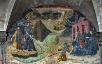Cloître des Orangers Badia Fiorentina construit par Bernardo Rossellino 1432-1438 Fresques Giovanni di Consalvo