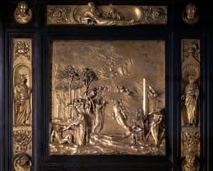 La porte du Paradis, Adam et Eve, Baptistère de San Giovanni à Florence en Italie