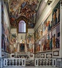Chapelle Brancacci, église dei Carmini, fresques de Masaccio, Masolino et Filippino Lippi, 1420-1480, Florence Italie