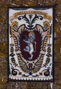 Blason Cortona Toscane Chapelle des Princes Médicis à Florence en Italie