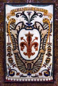 Blason Florence Toscane Chapelle des Princes Médicis à Florence en Italie