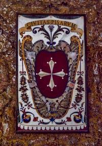 Blason Pise Toscane Chapelle des Princes Médicis à Florence en Italie