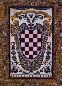 Blason Pistoia Toscane Chapelle des Princes Médicis à Florence en Italie