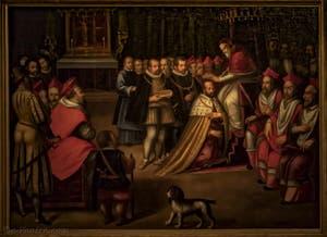 Couronnement de Cosimo Ier par le Pape Pie V Chapelle des Princes Médicis à Florence en Italie