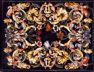 Marqueterie de marbres et pierres semi-précieusesChapelle des Princes Médicis à Florence en Italie