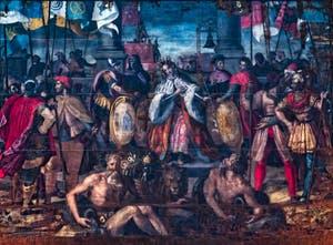 Allégorie du triomphe de Florence par Alessandro Allori Chapelle des Princes Médicis à Florence en Italie