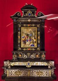 Reliquaire de l'adoration des pasteurs Trésor de la chapelle des Princes Médicis à Florence en Italie