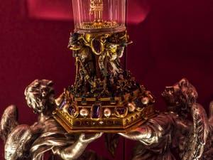 Reliquaire de l'épine Trésor de la chapelle des Princes Médicis à Florence en Italie