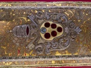 Voile du pupitre du Pape Léon X Trésor chapelle Médicis à Florence en Italie