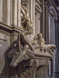 Tombeau de Lorenzo de Médicis, Sacrestia Nuova, la chapelle Médicis à Florence en Italie