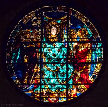 Vitrail de Ghiberti de la Cathédrale Santa Maria del Fiore, le Duomo à Florence en Italie