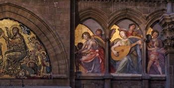 Fresque Anges Musiciens Santi di Tito de la Cathédrale Santa Maria del Fiore, le Duomo à Florence en Italie