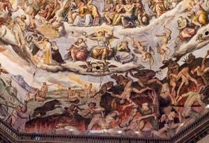 Scènes de l'enfer et des péchés, les fresques de la Coupole de Brunelleschi dans la Cathédrale Santa Maria del Fiore à Florence en Italie