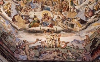 Les trois vertus théologales, les fresques de la Coupole de Brunelleschi dans la Cathédrale Santa Maria del Fiore à Florence en Italie