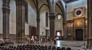 Horloge Monumentale de la Cathédrale Santa Maria del Fiore, le Duomo à Florence en Italie