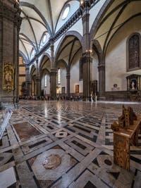 Marbres polychromes de la Cathédrale Cathédrale Santa Maria del Fiore, le Duomo à Florence en Italie