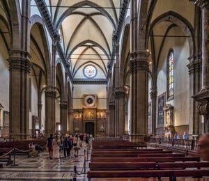 L'intérieur de la Cathédrale Santa Maria del Fiore, le Duomo à Florence en Italie