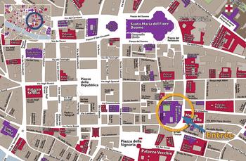 Plan de Situation de Badia Fiorentina à Florence Italie