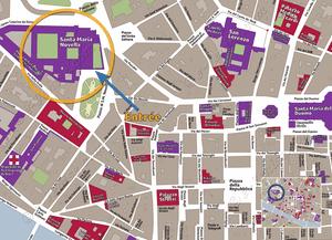 Plan de Situation de Basilique et Couvents Santa Maria Novella à Florence Italie