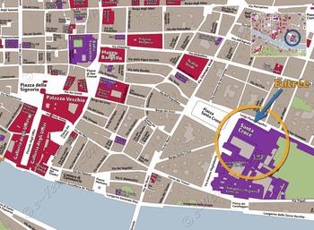 Plan de Situation de Basilique Santa Croce à Florence Italie