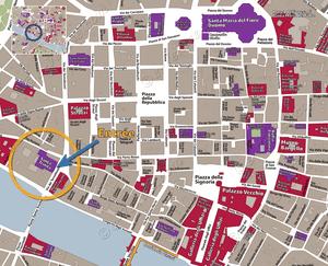 Plan de Situation de Santa Trinita à Florence Italie