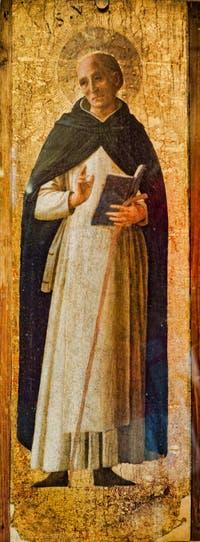 Beato Angelico, Saint. détrempe et feuille d'or sur bois, dans le couvent de San Marco à Florence en Italie