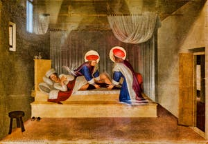 Beato Angelico, détrempe sur bois du XVe siècle, couvent de San Marco, Florence Italie