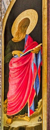 Beato Angelico, Tabernacle des Liniers, Vierge à l'enfant, détrempe et feuille d'or sur bois, 1433-1436, couvent de San Marco à Florence Italie