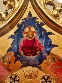 Beato Angelico, Vierge à l'enfant, la Madonne de l'étoile, détrempe et feuille d'or sur bois, 1434, couvent de San Marco à Florence Italie