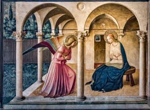 Beato Angelico, Annonciation, fresque du cloître San Marco, 1442, Florence Italie