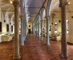 La bibliothèque du Couvent de San Marco où fut arrêté Jerôme Savonarole, la nuit du 8 avril 1498 à Florence en Italie