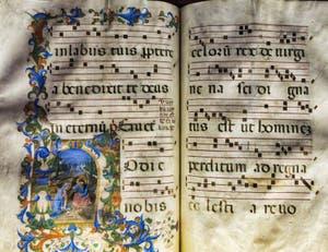 Manuscrit et enluminures, bibliothèque du couvent de San Marco à Florence en Italie