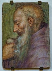 Fra Bartolomeo, Saint-Antoine Abbé, fresque sur tuile, 1516, au musée-couvent de San Marco à Florence Italie