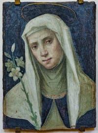 Fra Bartolomeo, Sainte Catherine de Sienne, fresque sur tuile, 1509, couvent de San Marco à Florence Italie