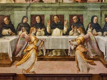 Giovanni Antonio Sogliani, fresque de la Providence des Dominicains, 1536, au couvent de San Marco à Florence Italie
