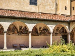 Musée Couvent de San Marco, fresque du cloître Saint Antonin à Florence en Italie