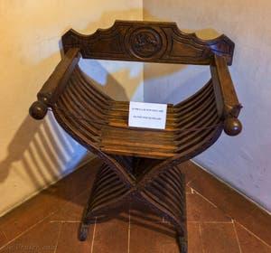 La Chaise de Jerôme Savonarole, la Savoranola, au Couvent Musée San Marco à Florence en Italie