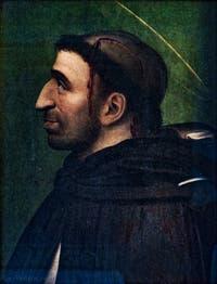 Portrait de Jerôme Savonarole par Fra Bartolomeo comme Saint-Pierre de Vérone, détrempe sur bois Couvent Musée San Marco à Florence en Italie