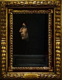Retrato de Jerónimo Savonarola por Fra Bartolomeo detrempe sur bois (1498) Museo del Convento de San Marcos en Florencia, Italia