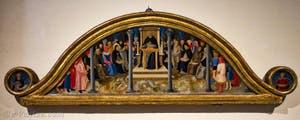 Zanobi Strozzi, l'école d'Albert le Grand, détrempe sur bois (1450) dans la bibliothèque du couvent de San Marco à Florence en Italie