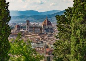 La cathédrale de Florence vue depuis San Miniato al Monte.