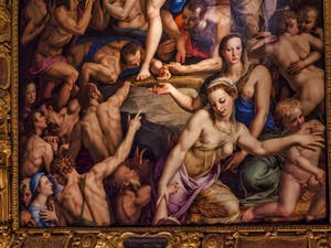 Bronzino Agnolo di Cosimo Tori, Descente dans les Limbes de Jésus-Christ (1552) église de Santa Croce à Florence en Italie