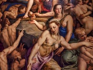 Bronzino Descente dans les Limbes de Jésus-Christ (1552) Santa Croce à Florence en Italie