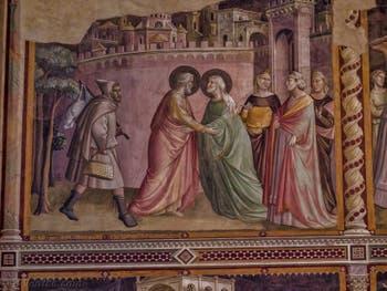 Chapelle Baroncelli fresques de Taddeo Gaddi église Santa Croce à Florence en Italie