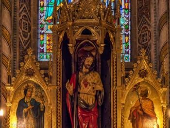 Chapelle Giusti tombes de Julie et Carlotta Bonaparte église Santa Croce à Florence en Italie