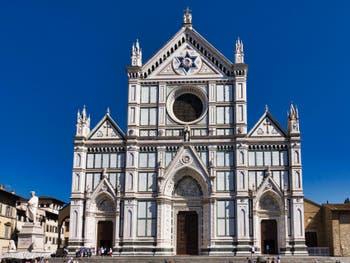 Extérieur de l'église Santa Croce à Florence en Italie