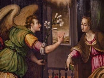 Giorgio Vasari Annonciation (deuxième moitié XVIe siècle) réfectoire de l'église de Santa Croce à Florence en Italie
