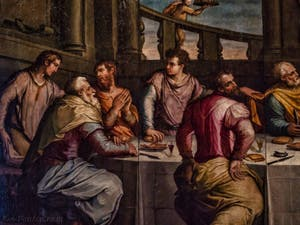 Giorgio Vasari La dernière Cène (1546) réfectoire de l'église de Santa Croce à Florence en Italie