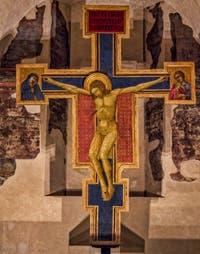 Lippo di Benivieni, Christ Crucifié (début XIVe) église de Santa Croce à Florence en Italie